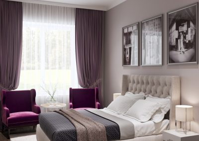 Дизайн проект комнаты для гостей