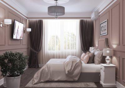 Проект дизайна в спальне
