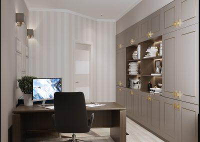 Проект дизайна домашнего кабинета