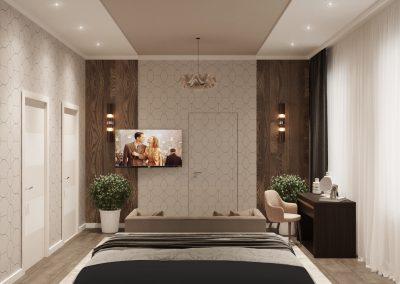 Спальная комната дизайн от ДомОрен