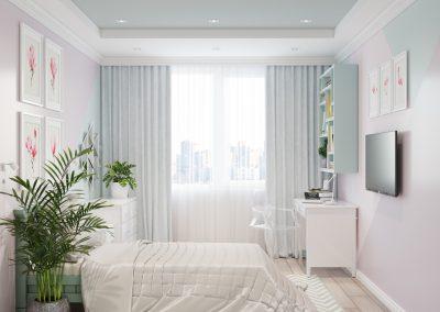 Дизайн проект комнаты для девочки подростка