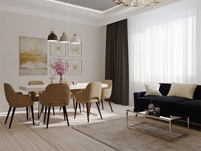 Трехкомнатная квартира в современном стиле